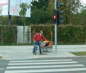 リュブリャーナの街角で・・・