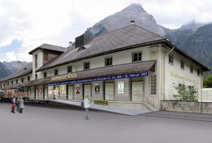 今夏、ベルギューン駅前に「アルブラ鉄道博物館」がオープン