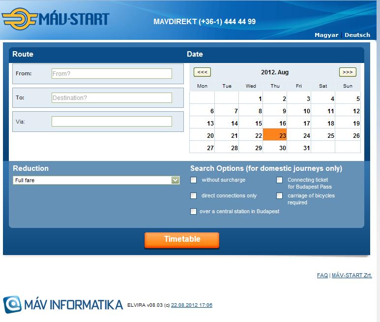 利便性が高まったハンガリー鉄道のオンラインチケット