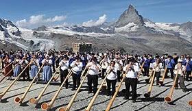 今年はギネス更新に挑戦!世界最大のアルプホルン祭り