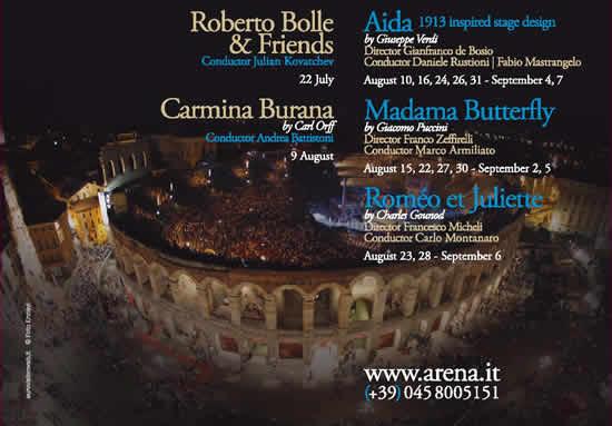ヴェローナの夏の風物詩、アレーナのオペラ祭