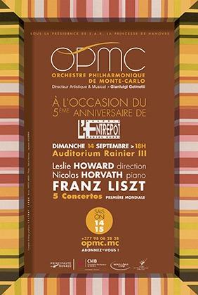 世界初!モンテカルロでフランツ・リストの特別コンサート