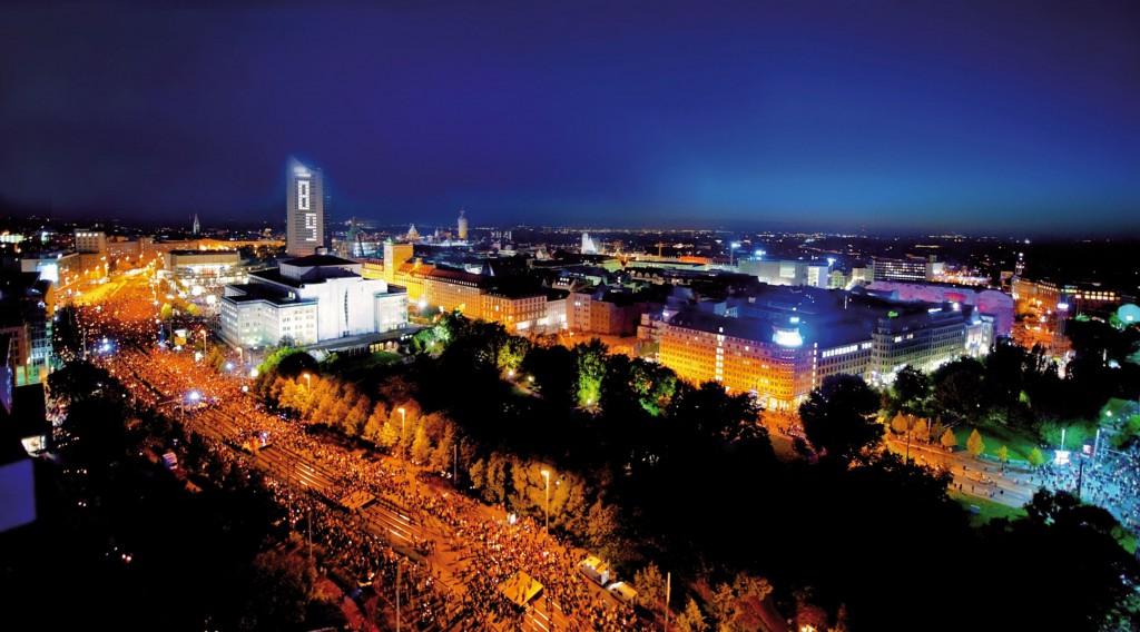 ライプツィヒの平和革命記念イベント「光の祭典」