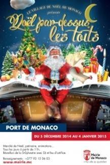 屋根の上から見るモナコのクリスマス