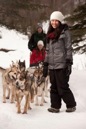 犬ゾリでアラスカを見るツアー開始!