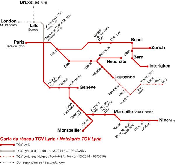 TGVリリア、ブリュッセル~ジュネーヴ線開通へ