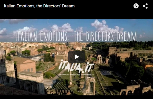 イタリア新プロモーション映像『監督たちの夢、感動のイタリア』