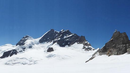 ユングフラウの頂上とスフィンクス展望台
