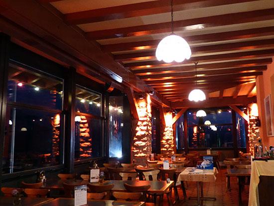 パノラマレストランの店内