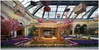 ベラージオ・コンサバトリー&植物園、今年の春は「日本文化」で装い