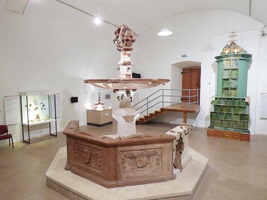 展示室にある噴水