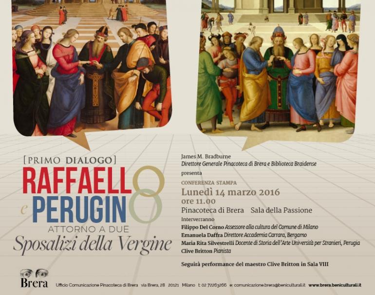 ミラノのブレラ美術館で2つの『聖母の結婚』のを対比展示