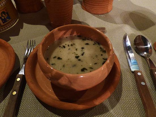 鹿肉のクリームスープ