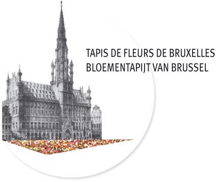 今年のブリュッセル・フラワーカーペットのデザインは「花鳥風月」