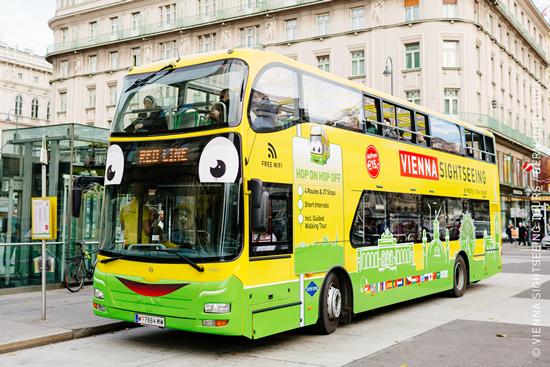 ウィーンの新しいホップオン・ホップオフ・バス 「グレーライン」
