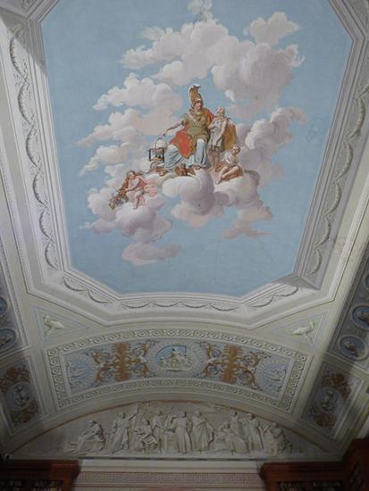 図書館の天井画