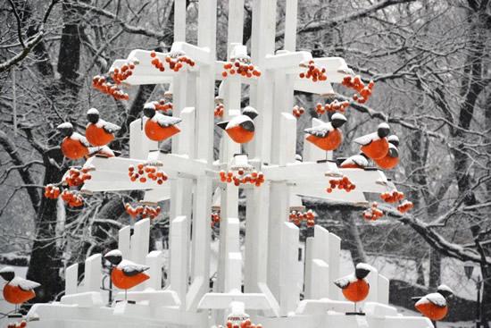 """リガの街をツリーで飾るイベント""""Christmas Tree Trail 2016″"""
