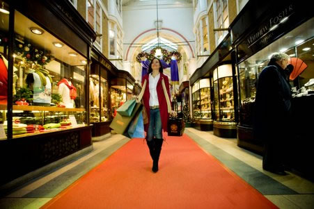shopping in Burlington Arcade