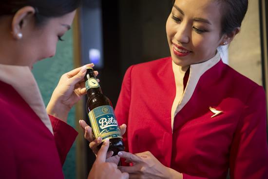 キャセイパシフィック航空 「ベッツィービール」の提供路線を拡大