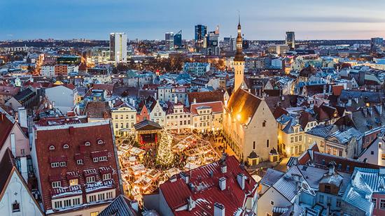 Estonia Old Town in Tallinn