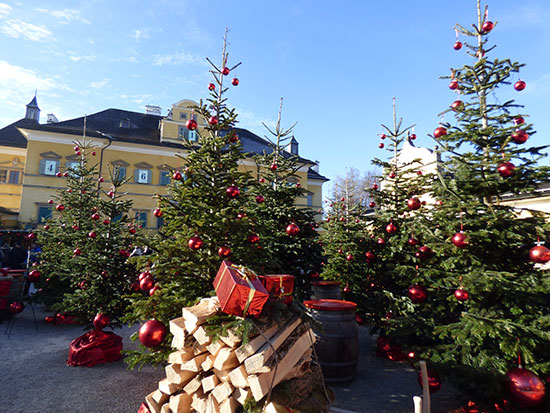 ヘルブルン宮殿のクリスマスマーケット