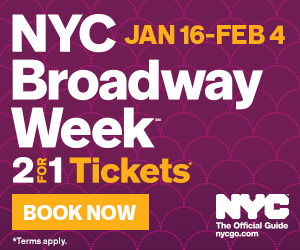 NYC Broadway Week 2018
