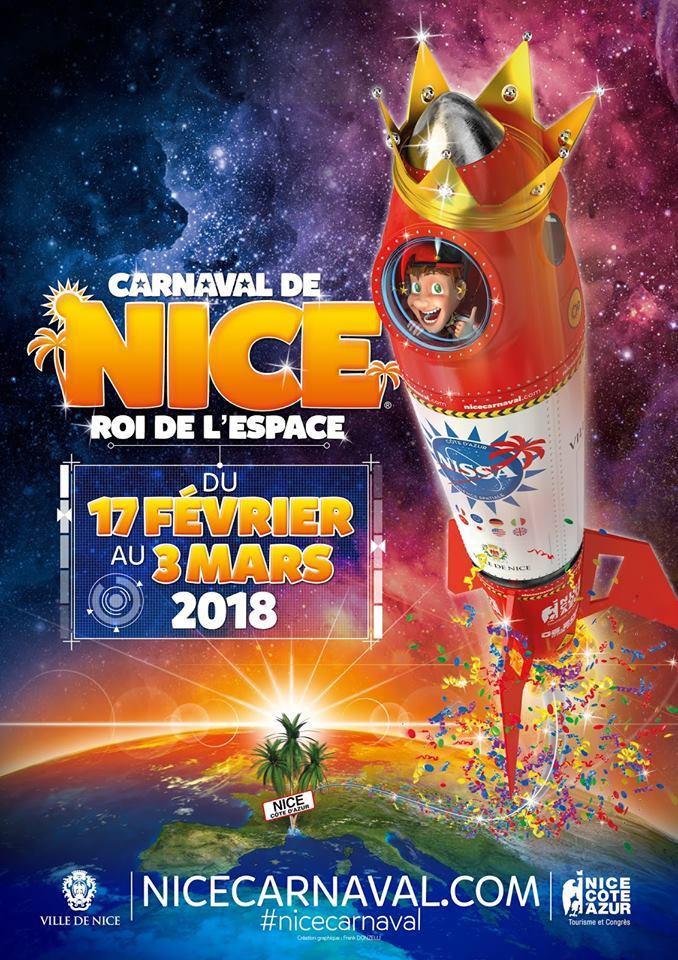 ニースのカーニバル 2018年のテーマは「宇宙の王様」