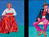 ビルバオで「ホックニーの肖像画展」開催中