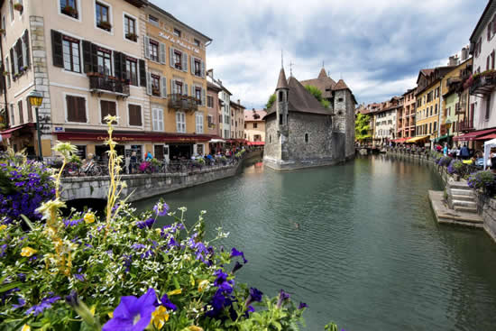 Canals in the old town of Annecy