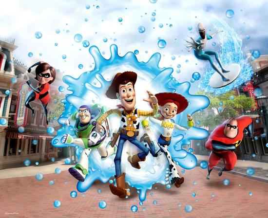 HK Disney Water Play Street Party