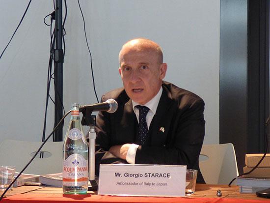 ジョルジョ・スタラーチェ駐日イタリア大使閣下