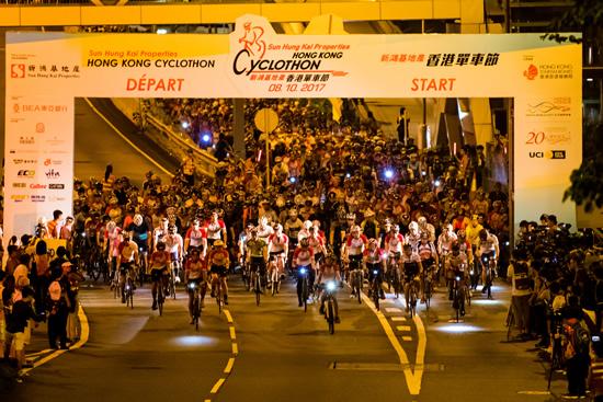 香港の3つの橋を走るサイクルイベント「SHKP香港サイクロソン」が10月14日に開催