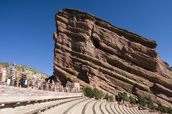 The aptly named Red Rock Amphitheater