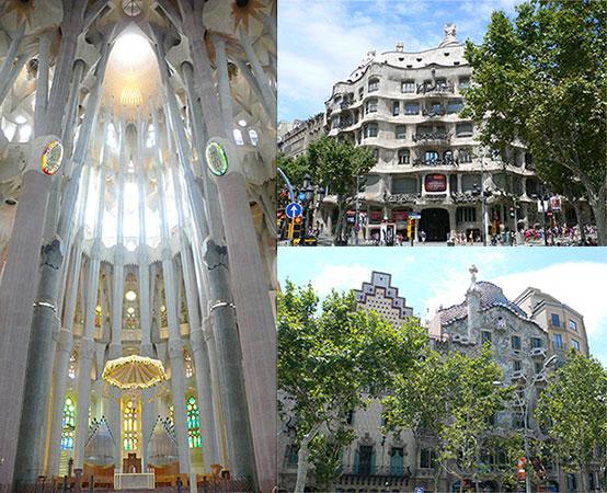 バルセロナのガウディ建築