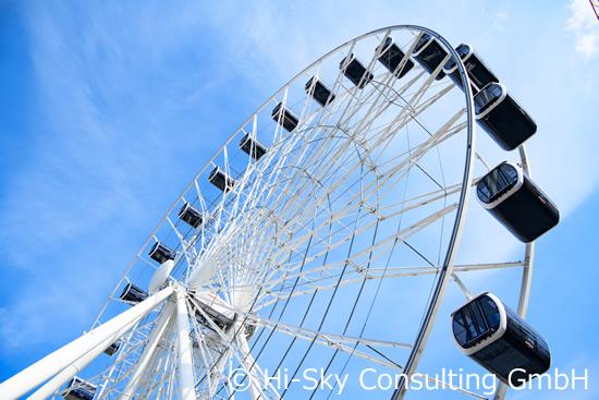 街の全景を一望! ミュンヘンに現れた世界最大の観覧車「Hi-Sky」