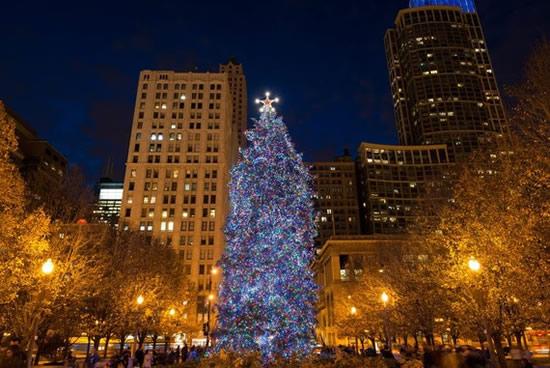 105周年を迎えるシカゴ市クリスマスツリー点灯式、2019年11月22日に開催