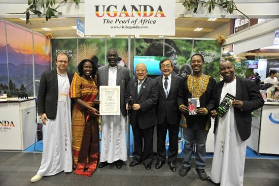 ウガンダ政府観光局、「ツーリズムEXPOジャパン2019大阪・関西」で特別賞を獲得