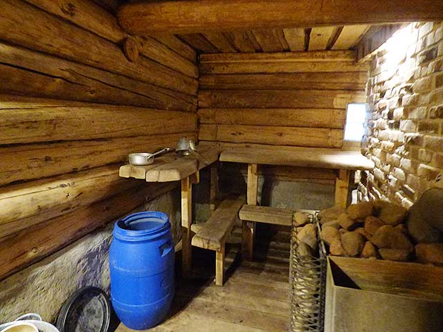 ゲストハウスの中にあるフィンランド式サウナ