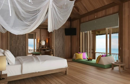 Six Senses Water Retreat Bedroom