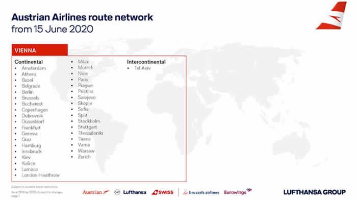 #ReadyToFly  オーストリア航空が6月15日より欧州内で運航を開始