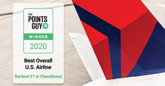 デルタ航空、TPGの航空会社ランキングで2年連続1位に