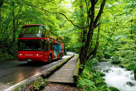 星野リゾート「渓流オープンバスツアー」を期間限定で一般開放