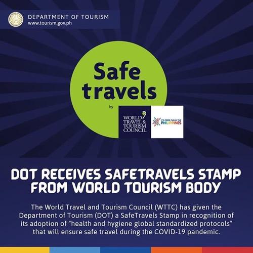 フィリピン観光省、世界旅行ツーリズム協議会が発行する「Safe Travels Stamp」を取得