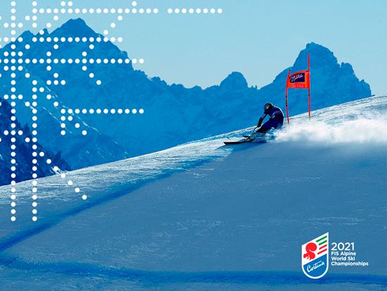 2021年の「FISアルペンスキー世界選手権」は伊・コルティーナで開催