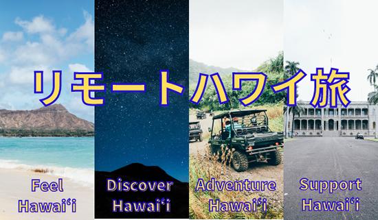 ハワイが擬似体験できるオンラインツアー「リモートハワイ旅」が登場!