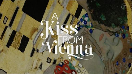 バレンタインデーのデジタルカーペット「ウィーンからのキス」